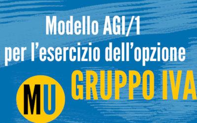 Modello AGI/1 opzione Gruppo IVA